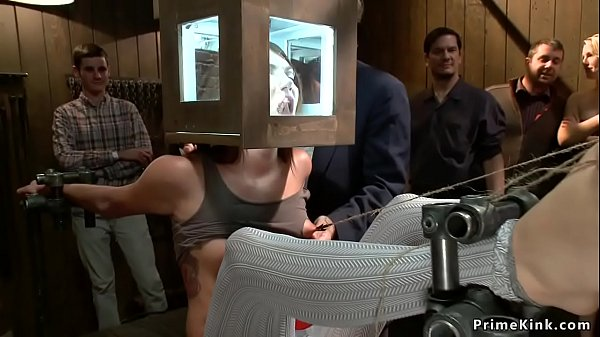 Two sluts anal bdsm banged in public